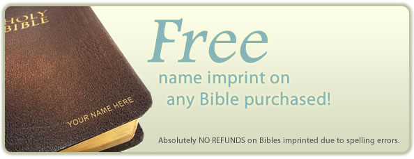 Free bible name imprinting